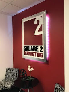 Office Sign at Square 2 Marketing
